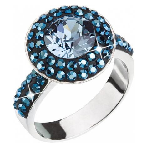Stříbrný prsten s krystaly modrý 35019.5 Victum
