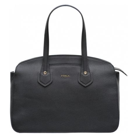 Furla kožená kabelka přes rameno - černá