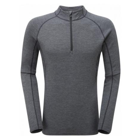 Pánské tričko Montane Primino 220 Zip Neck black