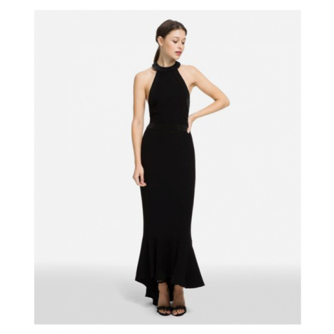 Šaty Karl Lagerfeld Karl Halter-Neck Dress - Černá