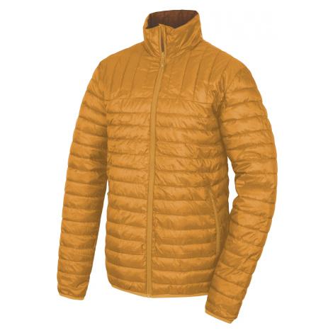 Husky Nodiq M, krémově žlutá / tm.hořčicová Pánská plněná oboustranná bunda
