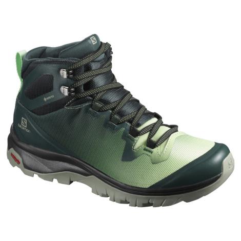Treková obuv Salomon Vaya MID GTX W - zelená/bílá/černá