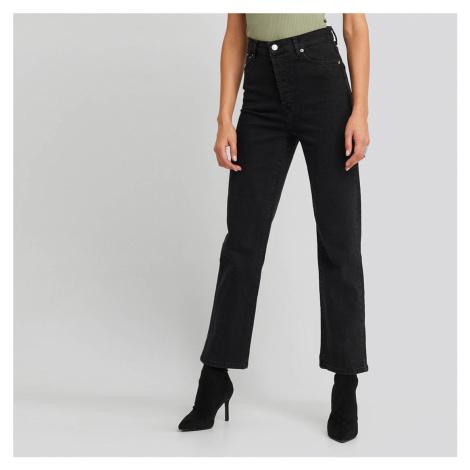 Černé džíny s vysokým pasem NA-KD