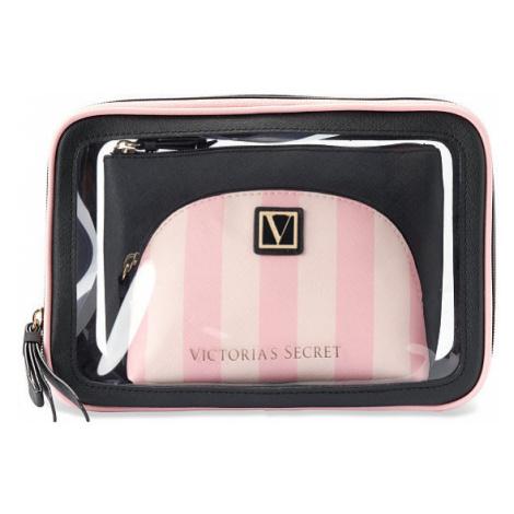 Kosmetická taštička Victoria's Secret Beauty Bag Trio Signature Stripe