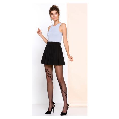 Dámské vzorované punčochové kalhoty Gabriella Helen | černá