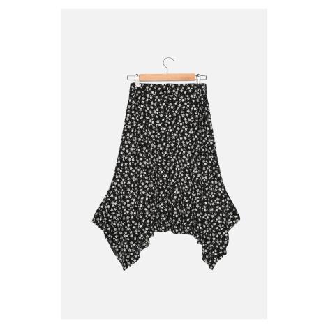 Trendyol Multi-Color Corduroy Knitted Handkerchief Petite Skirt