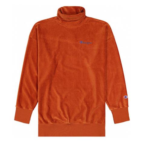 Champion Corduroy High Neck Oversized Sweatshirt oranžové 112247-MS053