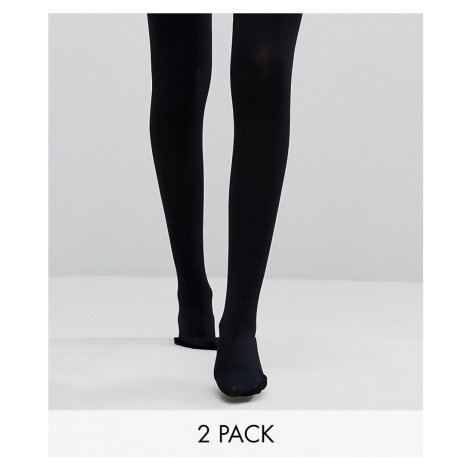 ASOS DESIGN 2 pack 120 denier black tights