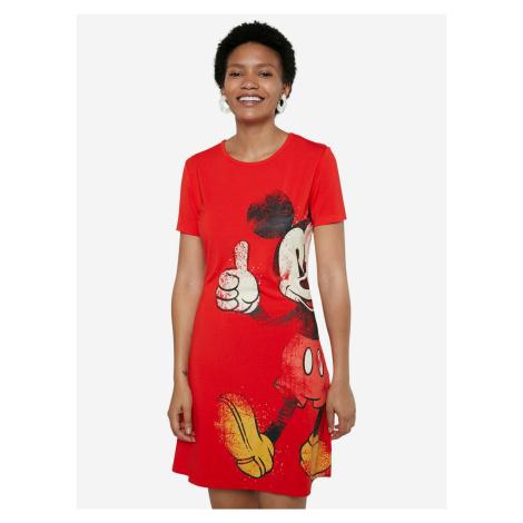 Mickey Šaty Desigual Červená