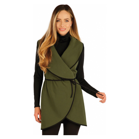 LITEX Fleecová vesta dámská dlouhá 7A275620 khaki