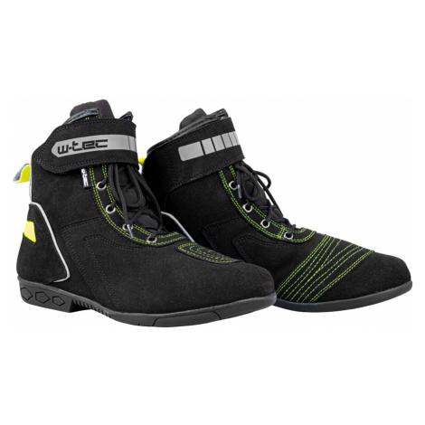 Moto boty W-TEC Sixtreet černo-zelená