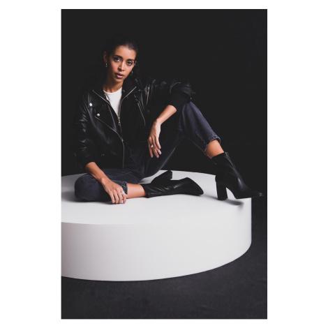 BSL Black eco leather biker jacket Fashionhunters