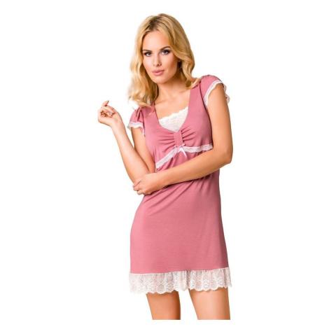 Luxusní noční košilka Maddy růžová Passion