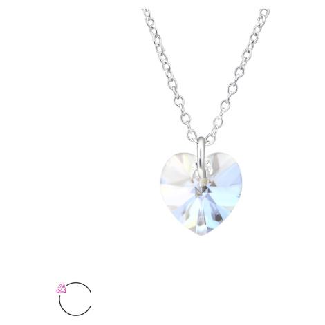 OLIVIE Stříbrný náhrdelník SRDCE Swarovski 4012