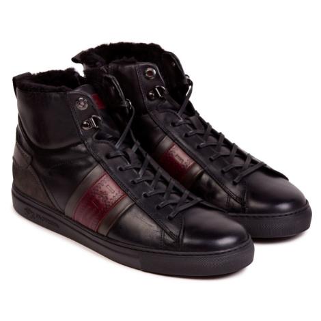 Kotníková Obuv La Martina Man Shoes Ohio Calf Leather - Černá