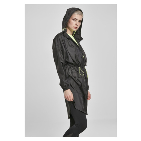Ladies Transparent Light Parka - black/electriclime Urban Classics
