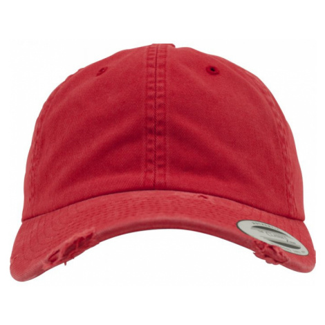 Low Profile Destroyed Cap - red Urban Classics