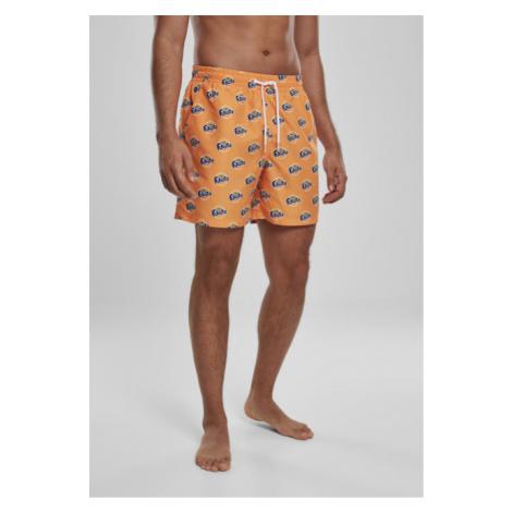Mr. Tee Fanta Logo AOP Swimshorts orange