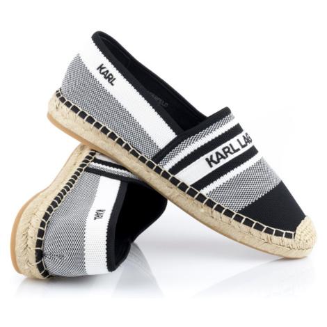 Espadrilky Karl Lagerfeld Kamini Karl Woven Slip On - Černá