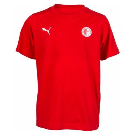 Puma LIGA CASUALS TEE JR SLAVIA červená - Dětské sportovní triko