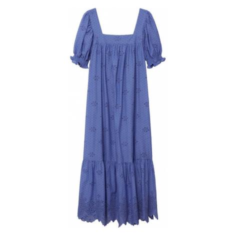 MANGO Šaty 'Nonna' modrá