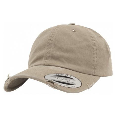 Low Profile Destroyed Cap - khaki Urban Classics