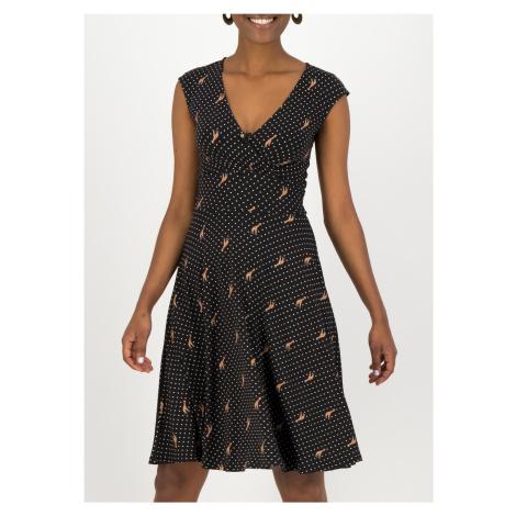 Letní šaty bez rukávů černé Blutsgeschwister Shalala Tralala