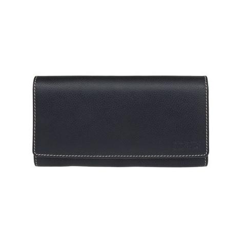 Lagen 11230 černo bílá dámská kožená peněženka Černá