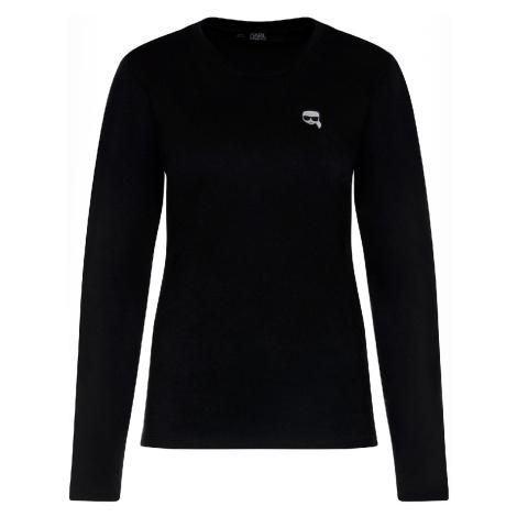 Černé tričko s dlouhým rukávem - KARL LAGERFELD | ikonik