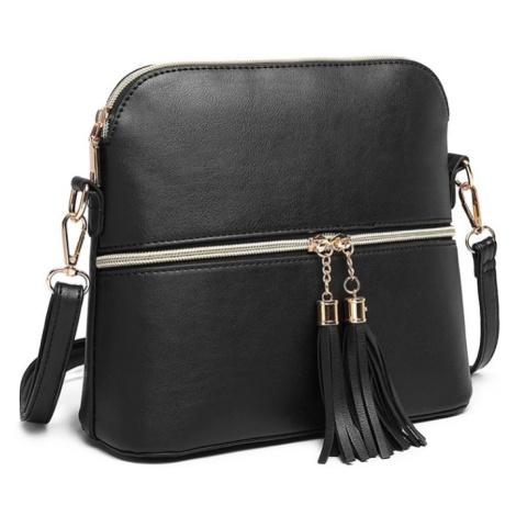 Černá dámská moderní crossbody kabelka Palma Lulu Bags
