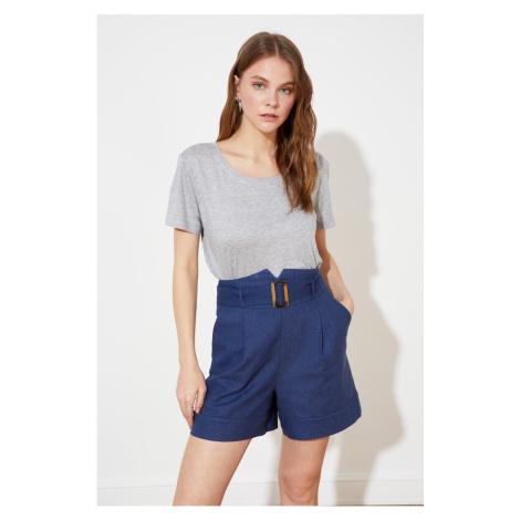 Trendyol Navy Blue Belt Shorts & Bermuda