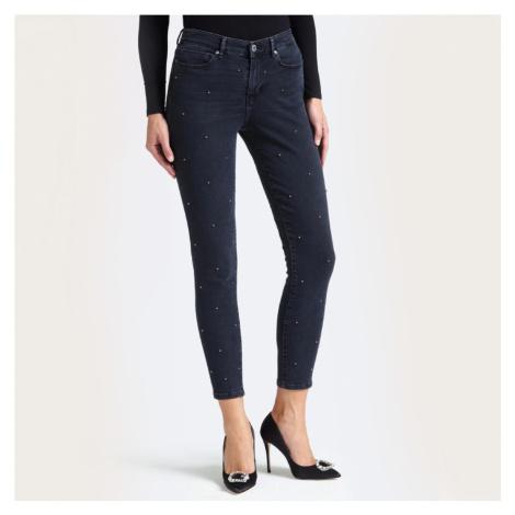 Guess dámské tmavě šedé džíny se cvoky