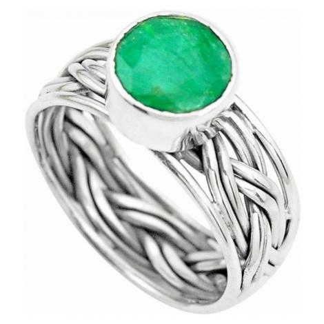 AutorskeSperky.com - Stříbrný prsten se smaragdem - S3125