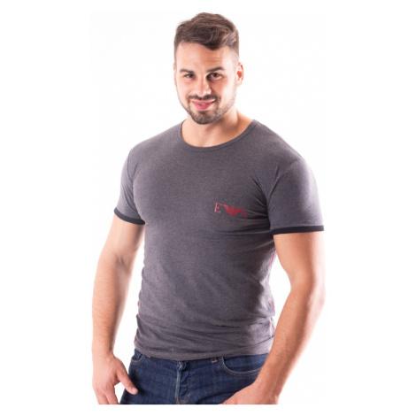 Pánské tričko Emporio Armani 111521 8A523 Tm. šedá