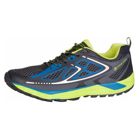 Běžecká obuv Alpine Pro ZIPPOR - modro-zelená