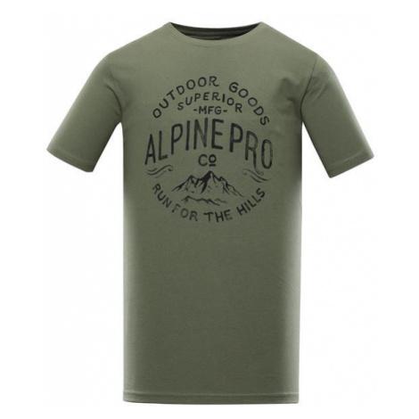 Uneg 9 zelená pánské bavlněné triko ALPINE PRO