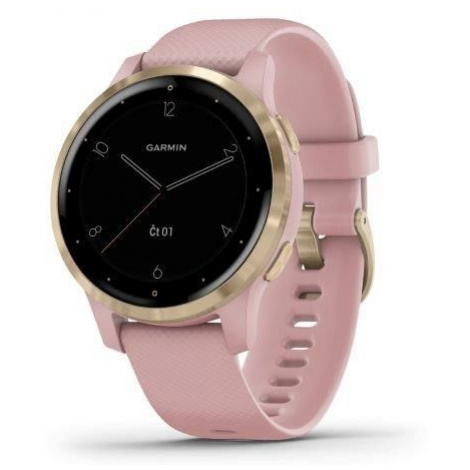 Sportovní smart GPS hodinky Garmin vívoactive 4S Dust Rose/Gold