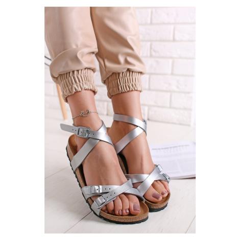 Stříbrné sandály Blanca BF Birkenstock