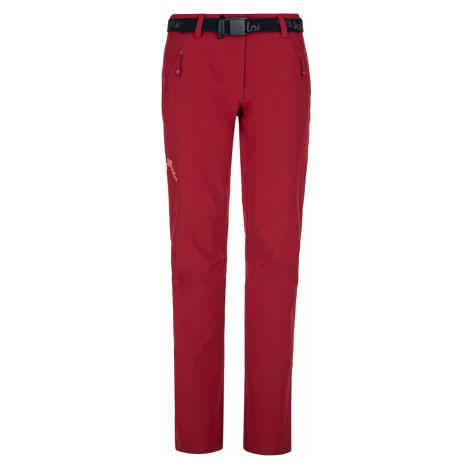 KILPI Dámské outdoorové kalhoty - větší velikosti WANAKA-W PLX027KIDRD Červená