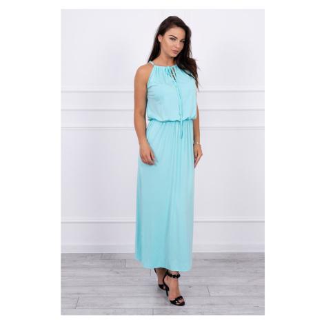 Boho dress with fly mint Kesi