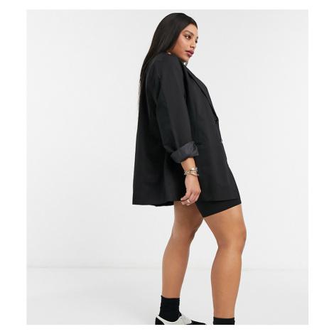 COLLUSION Plus oversized dad blazer in black