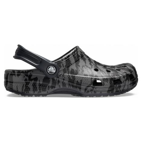 Crocs Classic Printed Camo Clog Black