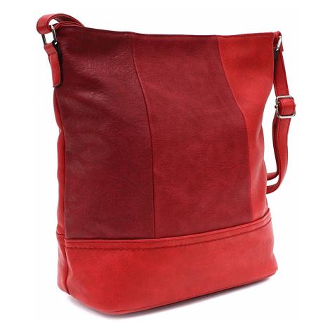 Červená elegantní větší dámská kabelka Itzel Tapple