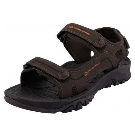 ALPINE PRO TEEC hnědá - Pánská letní obuv