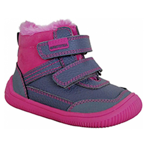 obuv dívčí zimní barefoot TYREL FUXIA, Protetika, fuchsia