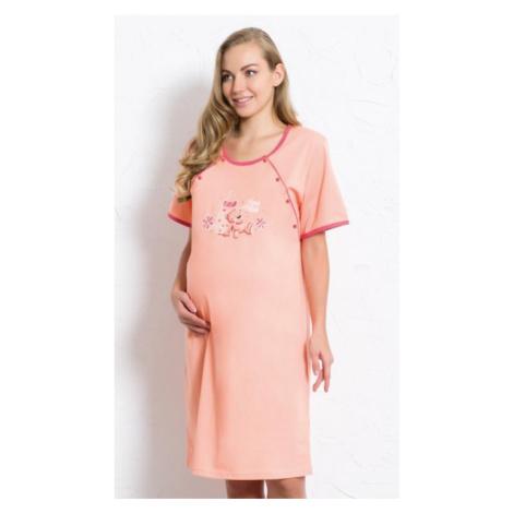 Dámská noční košile mateřská Vienetta Secret Míša | meruňková