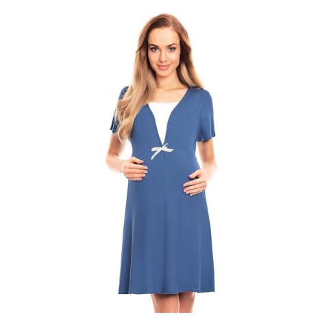 Mateřská noční košile Irena modrá PeeKaBoo