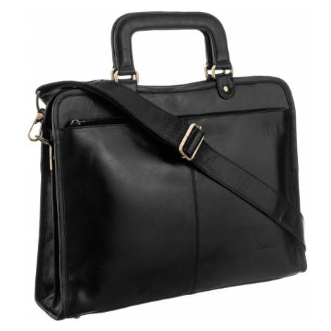 Pánská a dámská aktovka pracovní kožená taška na notebook Rovicky