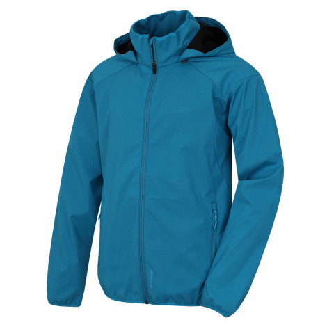 Husky Sally M, modrá Pánská softshellová bunda