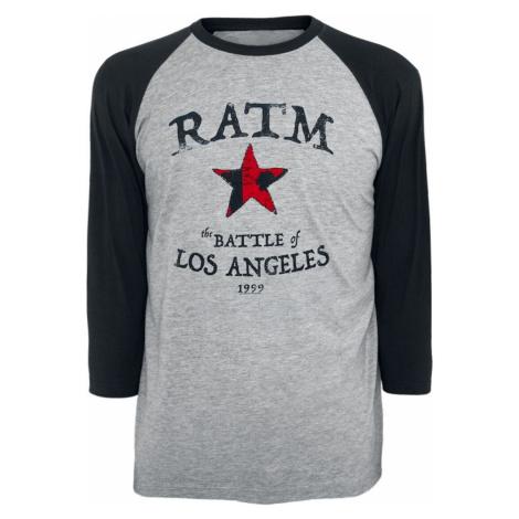 Rage Against The Machine Battle Star Tričko s dlouhým rukávem smíšená šedo-černá